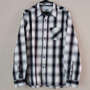 NWT Ovadia & Sons Max Plaid Shirt Off-White/Black